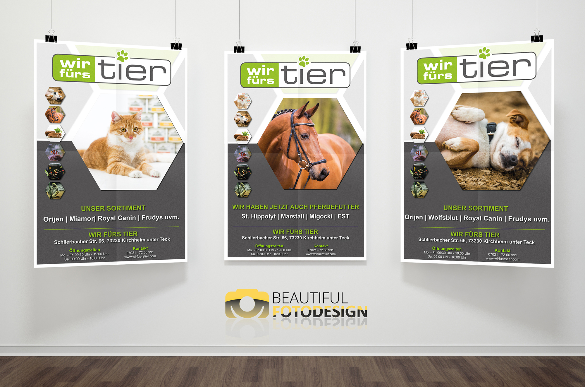 Plakatserie Wir fürs Tier - Beautiful Fotodesign