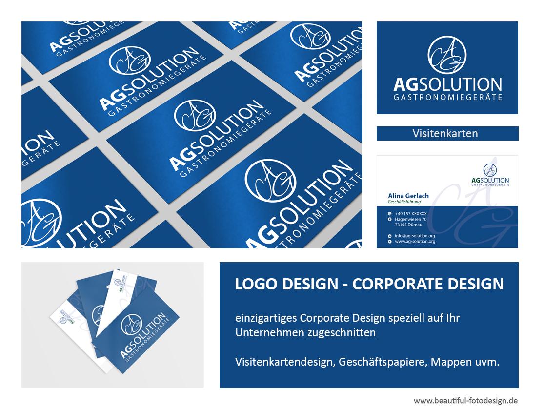 Logogestaltung, Visitenkarten, Design