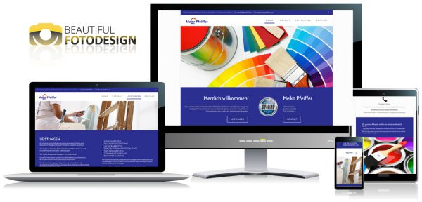 Internetseite für Maler Pfeiffer