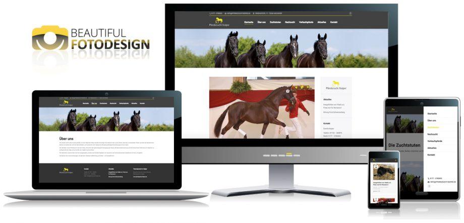 Webseite Pferdezucht Keiper